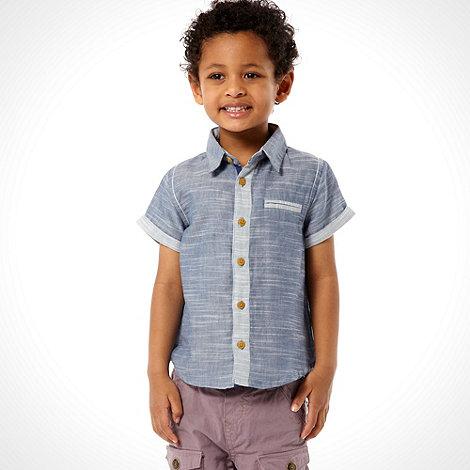 RJR.John Rocha - Designer boy+s blue chambray shirt