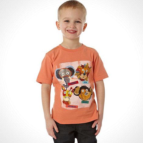 RJR.John Rocha - Designer boy+s orange animal printed t-shirt