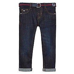 J by Jasper Conran - Boys' dark blue slim belted jeans