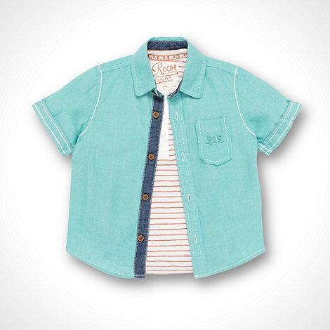 RJR.John Rocha - Designer boy+s turquoise shirt and t-shirt set