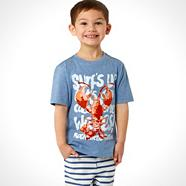 Designer boy's blue lobster t-shirt