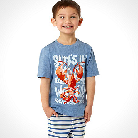 RJR.John Rocha - Designer boy+s blue lobster t-shirt