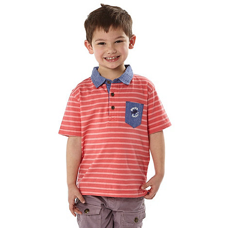RJR.John Rocha - Designer boy's red striped polo shirt