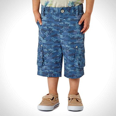 RJR.John Rocha - Designer boy+s blue hibiscus shorts