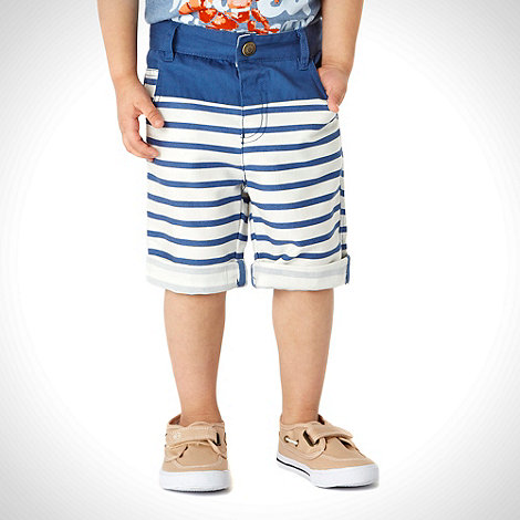 RJR.John Rocha - Designer boy+s blue striped shorts