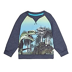 bluezoo - Boys' blue dinosaur print sweatshirt