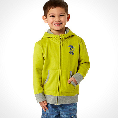RJR.John Rocha - Designer boy+s lime zip through hoodie