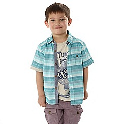 RJR.John Rocha - Designer boy's blue striped shirt and t-shirt set