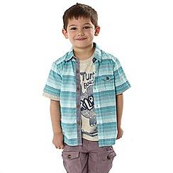RJR.John Rocha - Designer boy's blue striped shirt and t-shirt set