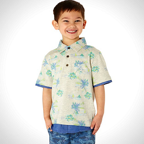 RJR.John Rocha - Designer boy+s light grey palm tree polo shirt
