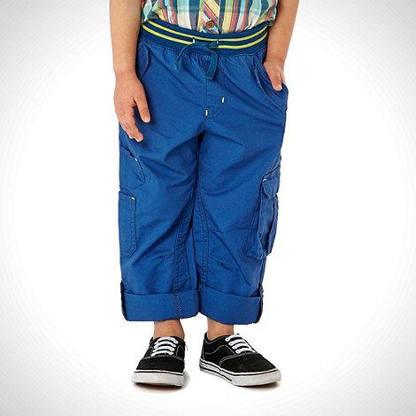 RJR.John Rocha - Designer boy+s dark blue ribbed waist trousers
