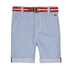 J by Jasper Conran - Boys' blue striped belted shorts