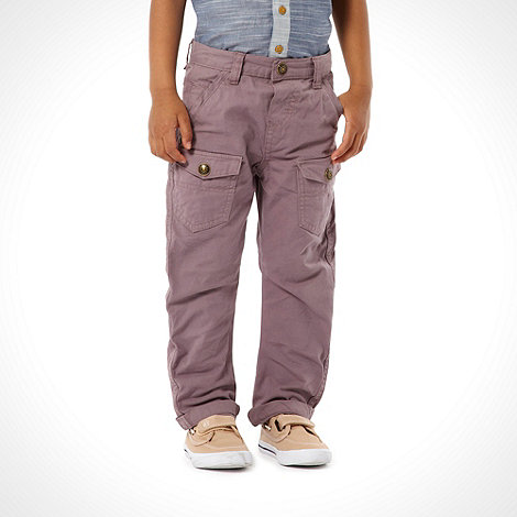 RJR.John Rocha - Designer boy+s purple chinos