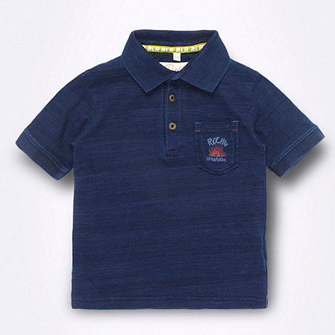 RJR.John Rocha - Designer boy+s dark blue polo shirt