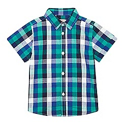 bluezoo - Boys' dark green checked shirt