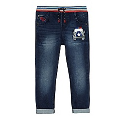 bluezoo - Boys' blue police car applique jeans