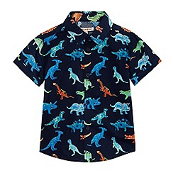 bluezoo - Boys' navy dinosaur print shirt