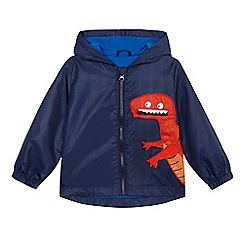 bluezoo - Boys' blue dinosaur applique jacket