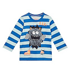 bluezoo - Boys' blue long sleeve monster t-shirt