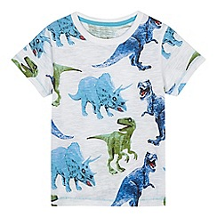 bluezoo - Boys' white dinosaur print t-shirt