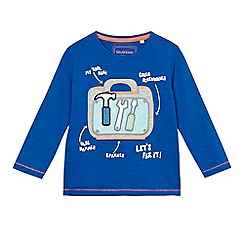 bluezoo - Boys' blue tool box applique t-shirt