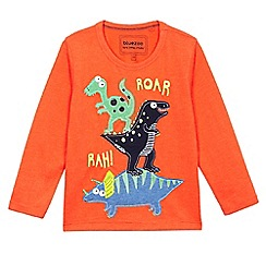 bluezoo - Boys' orange long sleeve 'Roar' t-shirt