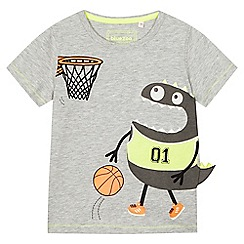 bluezoo - Boys' grey monster basketball t-shirt