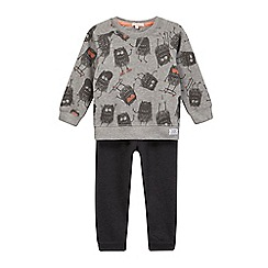 bluezoo - Boys' grey monster print sweater and joggers set
