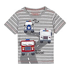 bluezoo - Boys' grey striped t-shirt