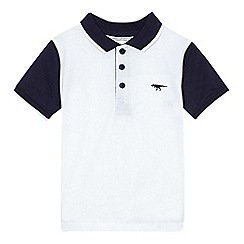bluezoo - Boys' navy contrasting polo shirt