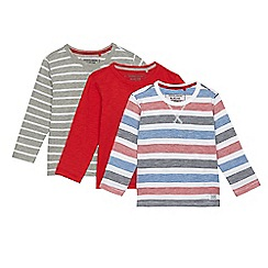 bluezoo - Pack of three boys' assorted striped and plain tops