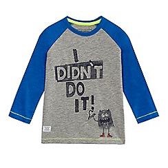 bluezoo - Boys' blue slogan print t-shirt