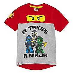 LEGO - Boys' red 'LEGO' glow in the dark t-shirt