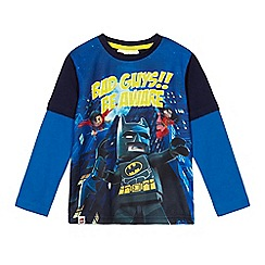 LEGO - Boys' blue 'Lego Batman' mock sleeve t-shirt