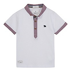 J by Jasper Conran - Boys' white gingham trim polo shirt