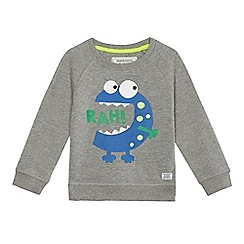 bluezoo - Boys' grey monster print sweater