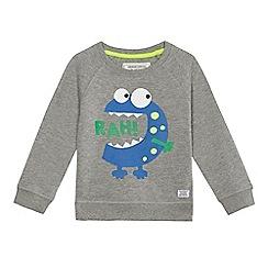 bluezoo - Boys' grey monster print sweater