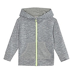 bluezoo - Boys' grey zip-up monster hoodie