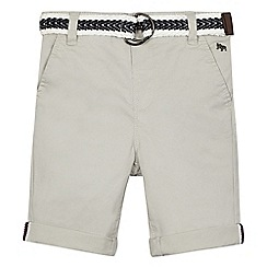 J by Jasper Conran - Boys' grey belted stretch chino shorts