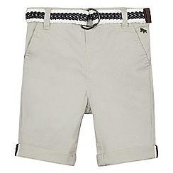 J by Jasper Conran - Boys' grey belted stretch chino shorts