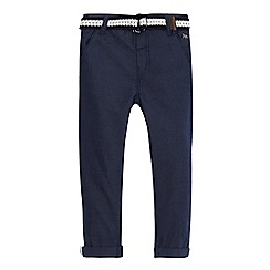 J by Jasper Conran - Boys' blue textured chino's with belt