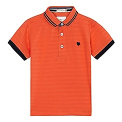 J by Jasper Conran - Boys' orange textured polo shirt
