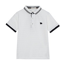 J by Jasper Conran - Boys' white textured polo shirt