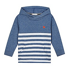J by Jasper Conran - Boys' blue stripe print hoodie
