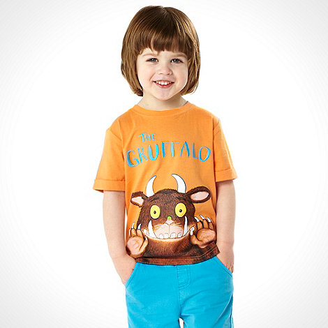 The Gruffalo - Boy+s orange +Gruffalo+ t-shirt