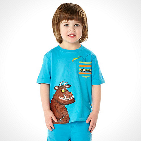 The Gruffalo - Boy+s turquoise striped +Gruffalo+ t-shirt