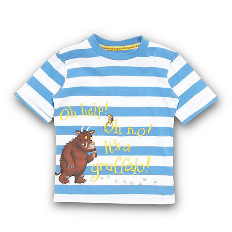 The Gruffalo - Boy+s blue striped +Gruffalo+ t-shirt