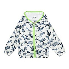 bluezoo - Boys' white dinosaur shower resistant jacket