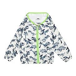 bluezoo - Boys' white dinosaur shower resistant jacket