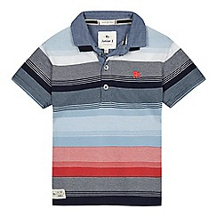J by Jasper Conran - Boys' blue stripe polo shirt